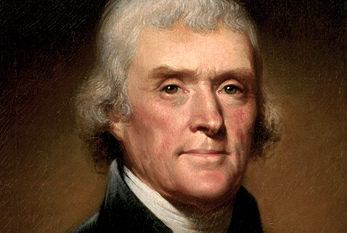 Retrato de Thomas Jefferson.