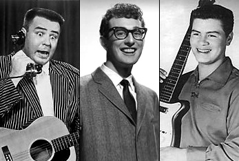 "JP ""The Big Bopper"" Richardson, Buddy Holly y Ritchie Valens"