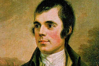 Robert Burns en una pintura.